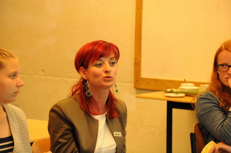 Serena Workshop: der heiße Stuhl: Vendula Braunova. Foto: Stephanie Pletsch