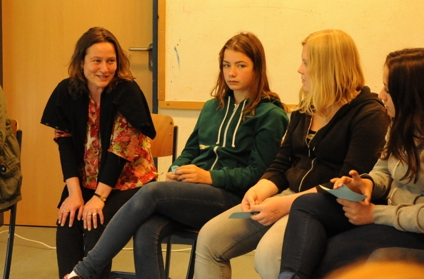 Serena Workshop: der heiße Stuhl:: Miram Böhm. Foto: Stephanie Pletsch