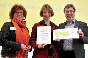 Übergabe der Auszeichnung Nachhaltigkeit des RNE